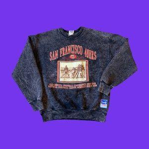 Vintage 90s Acid Wash 49ers san francisco crewneck